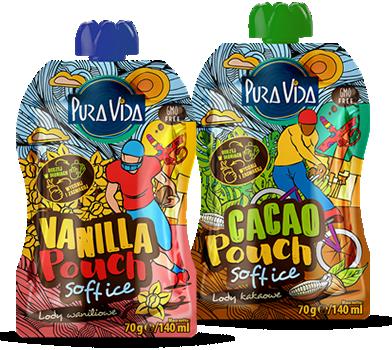 Pura Vida softice pouch vanilla i cacao